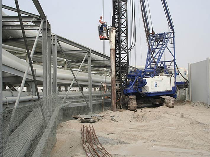 Piled Foundation For Pipe Rack System For Pof Gulf