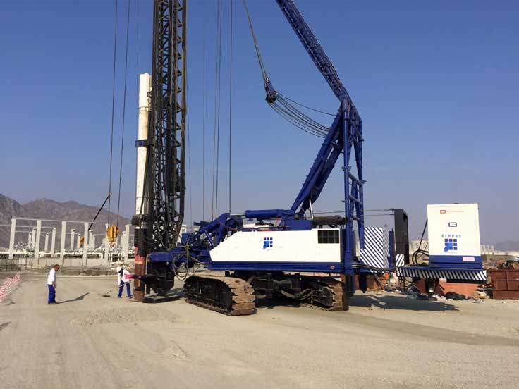 Piling Works for Port of Fujairah Pipe Rack #5 | Gulf Foundation FZE