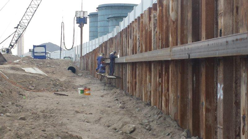 Sheet Piling Works For Iptt Jetty Lines Gulf Foundation Fze